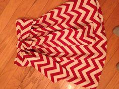 So Easy! I REALLY want to make one! Elastic Waistband with Sash Chevron skirt