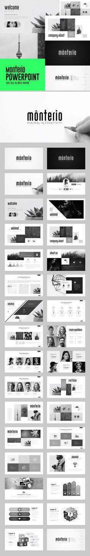 Monterio - Multipurpose PowerPoint Template #powerpoint #presentation #template #design