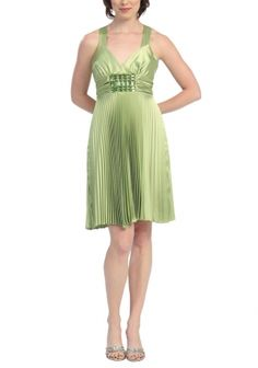 apple green prom dress