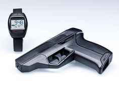 Got kids in the house? Armatix smart gun helps prevent anyone but the owner from shooting it. The gun is a .22 caliber weapon with a 10-round capacity. The watch and gun are sold separately. The gun sells for $1399, while the watch, which is required to use the gun, sells for another $399.