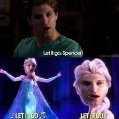 funny pretty little liar memes Pll Memes, Funny Memes, Hilarious, Toby Pll, Freelee The Banana Girl, Pretty Little Liars Meme, Frozen Memes, Frozen Funny, Spencer And Toby