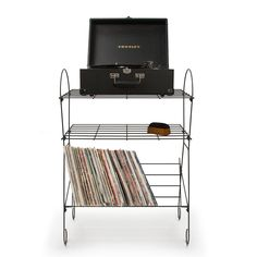 Crosley Wirecord Turntable Stand Black