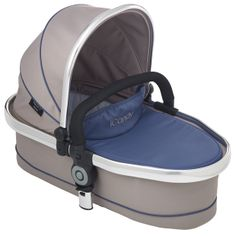 Peach 3 Blossom Carrycot Azure - Optional extra carrycot suitable from birth and overnight sleeping. Comes complete with padded mattress and raincover. Ideal until baby can sit unaided or weighs 9kg. http://www.icandyworld.com/uk/en/product/peach-3