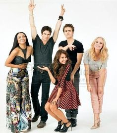 The Vampire Diaries. My fab cast!