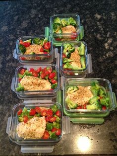 (3) meal prep | Tumblr- good inspiration for weekday meals at work!