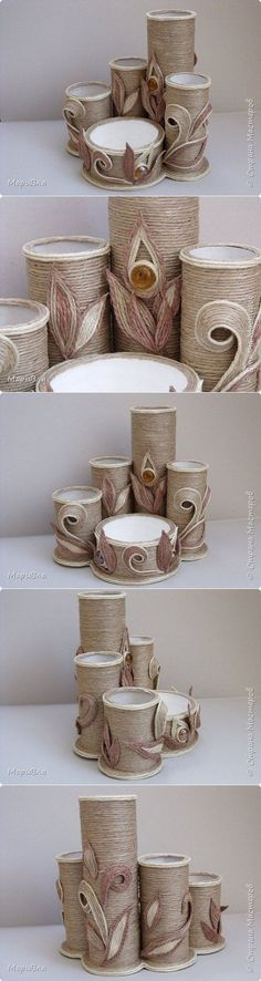 Toilet Paper Roll Crafts - Get creative! These toilet paper roll crafts are a great way to reuse these often forgotten paper products. You can use toilet paper rolls for anything! creative DIY toilet paper roll crafts are fun and easy to make. Hobbies And Crafts, Diy And Crafts, Crafts For Kids, Arts And Crafts, Bottle Art, Bottle Crafts, Toilet Paper Roll Crafts, Paper Crafts, Diy Y Manualidades