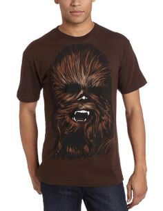 Star Wars Men's Chewy Face T-Shirt, Brown, X-Large