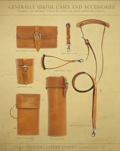 Useful Leather Cases + Accessories by Kara Ginther Leather