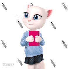 Planning queen! Talking Tom, watch and learn! xo, Talking Angela #TalkingAngela…
