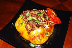 Stuffed Heirloom Tomatoes With Red Quinoa and Basil