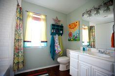 Kids Bathroom Renovation by @blackdoorhomeco