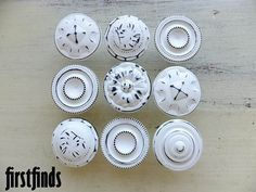 9 Medium Misfit Knobs Kitchen Cabinet Pulls Shabby by Firstfinds, $54.00
