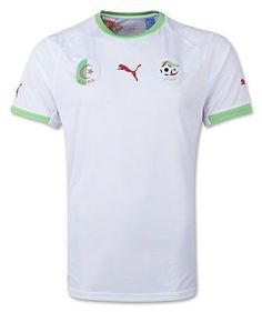 140eb1b9b Algeria Puma White Green Authentic Performance Home Soccer Jersey (XL)  World Cup Teams