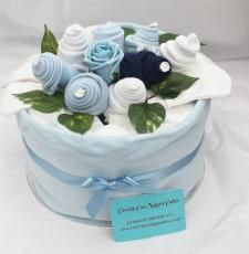 Large single tier nappy cake