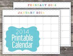 2014 Calendar  Printable PDF by CitrusPaperCo on Etsy, $5.00