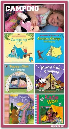 How to prepare toddlers for a first camping trip. Includes picture books to read.