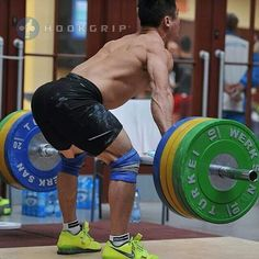 Snatch position at the knees.
