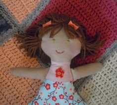 handmade doll/rag doll/natural cloth rag doll/fabric doll/ fabric toys