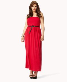 The Spuddy Buddies: Sleek Strapless Maxi Dress