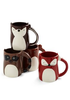 First and Forest Mug - Tazas de animales del bosque.