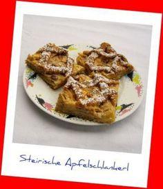 Steirische Apfelschlankerl (Apfel-Pudding-Gitter-Tarte)