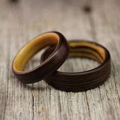 Indian rose wood wedding band