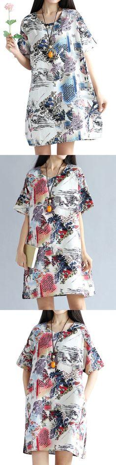 Summer women dress vintage ink printing short sleeve a line dresses vintage dresses jabong #sims #3 #vintage #dresses #vintage #60s #dress #sewing #patterns #vintage #dresses #tampa #vintage #j #crew #wedding #dresses