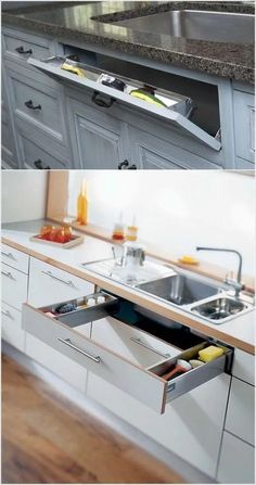Discover the incredible DIY kitchen furniture # … – Faisletoimeme – Cheap Kitchen Cabinets Tips Kitchen Room Design, Kitchen Cabinet Design, Modern Kitchen Design, Home Decor Kitchen, Interior Design Kitchen, New Kitchen, Kitchen Ideas, Smart Kitchen, Kitchen Furniture