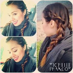michelle phan in braids which i taught were cute