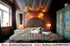 Dormitorio al estilo hindú.