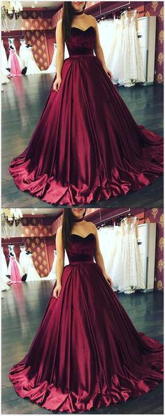 Sweetheart Prom Dress,Burgundy Prom Dresses, Long Prom Dress,Sexy Prom Dress, Burgundy Wedding Dresses,Ball gown Prom Dress