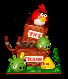 Angry Birds Cake By pieceofcaketx on CakeCentral.com