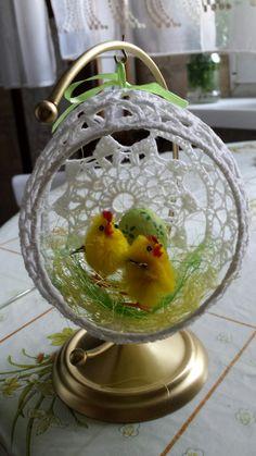 Snow Globes, Crochet, Home Decor, Easter Activities, Decoration Home, Room Decor, Ganchillo, Crocheting, Home Interior Design