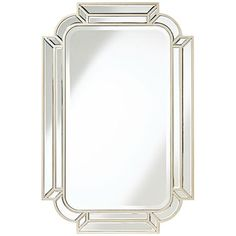 "Esbon Double Crown Champagne 25""x38"" Wall Mirror"