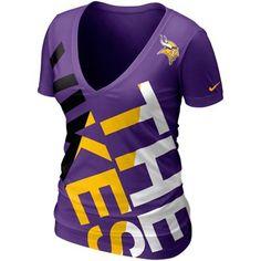 69f5d347e70 Nike Minnesota Vikings Ladies Tri-blend Off Kilter Premium T-Shirt - Purple