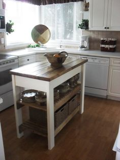 Incroyable A Kitchen Island.Humm, A Couple Of Crates, Small Kitchen Table And On The  Top . I See A DIY Here.