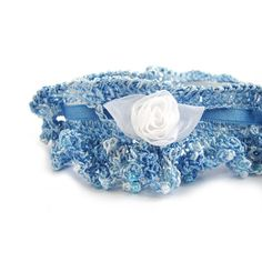 Wedding garter crochet garter heirloom bridal by SixSkeins on Etsy, £43.00