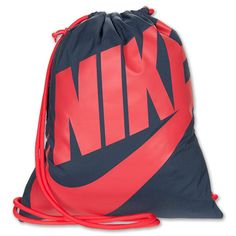 Nike Heritage Gymsack Lightweight Bag | Finish Line | Navy/Red