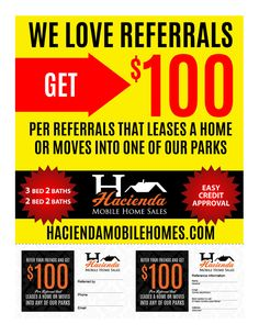 WE LOVE REFERRALS! IT'S EASY! Simply print and refer your family and friends.