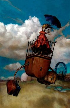Surrealist works but Esao keep the spirit of whimsy in the world of fine art today.