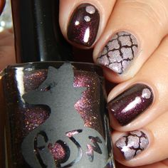 Frenzy polish crushed cranberries nail art
