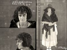 Vintage Mug Shot of Jean Wilson, 23  Jean Wilson had numerous convictions for housebreaking and theft and she served a 12-month sentence.