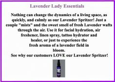 Lavender Lady Essentials..Lovely refreshing, calming Lavender Spritzer! #lavender #refreshingspritzer #hoodriverlavender #calming #soothing #lavenderlady