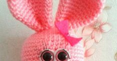 "Bunny Pattern or my Etsy shop   Finished Bunny approx 12.5""tall (32cm). This may vary depending on the yarn and the size of cro..."