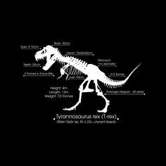 534d2faf Tyrannosaurus Rex Stats Men's T-Shirt by Kempo24 Graphic Design - Cloud  City 7 Cloud