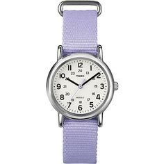 Timex(R) Weekender Womens Lavender Pastel Strap Watc ($37) ❤ liked on Polyvore