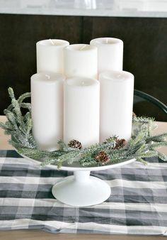 Easy Christmas Center piece idea