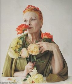 Love this photo of Vivienne Westwood, first saw it in British Vogue, Oct 2009. Shot by Tim Walker. Beautiful.