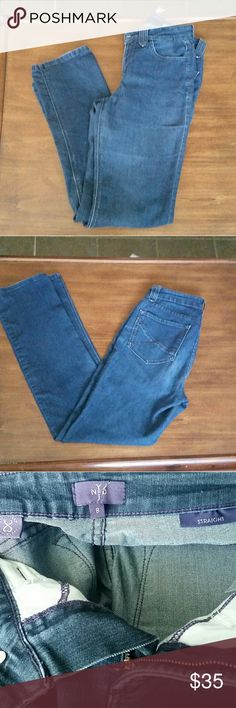 Not Your Daughter's Jeans straight jeans Not Your Daughter's Jeans straight jeans.  In excellent condition.  No rips holes or stains.  I accidentally cut part of the tag when removing the tag NYDJ Jeans Straight Leg