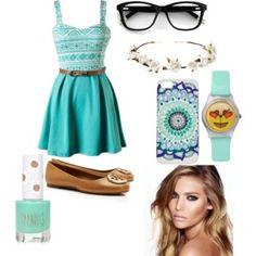 Aqua Outfit